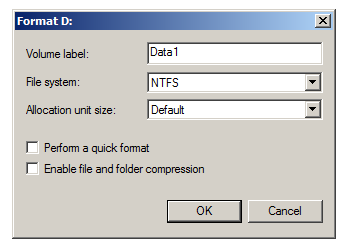 Windows GUI format