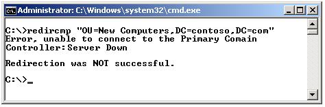 PDC Emulator redircmp