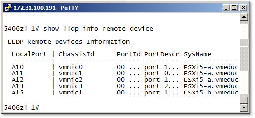 LLDP on ESXi 5.0