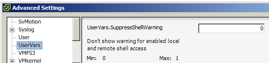 remove esxi ssh warning