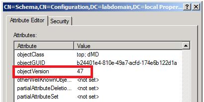 Active Directory Schema version